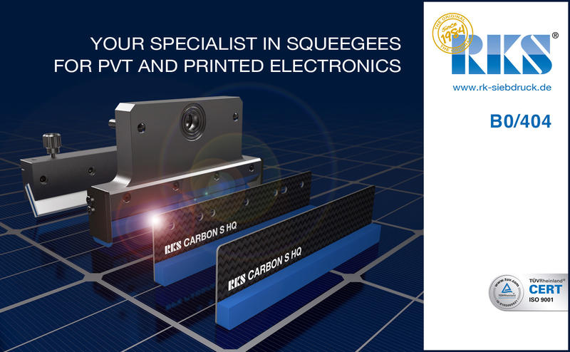 Your specialist in squeegees for PVT and Printed Electronics